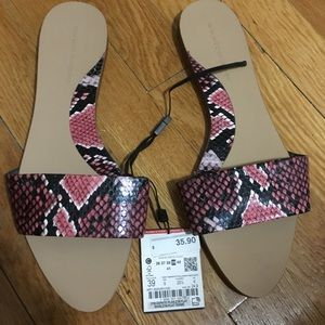 Zara slip on sandal